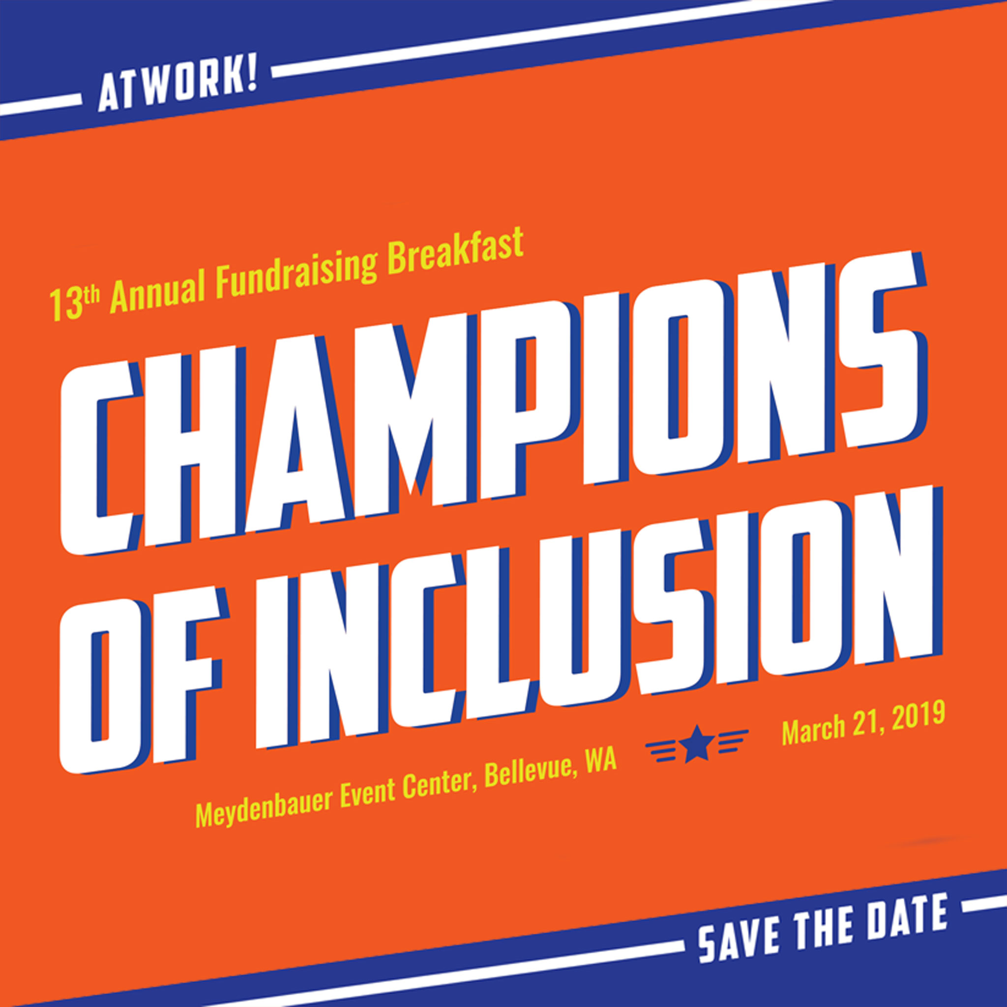 CHAMPIONS OF INCLUSION: AtWork!'s 13th Annual Breakfast Event