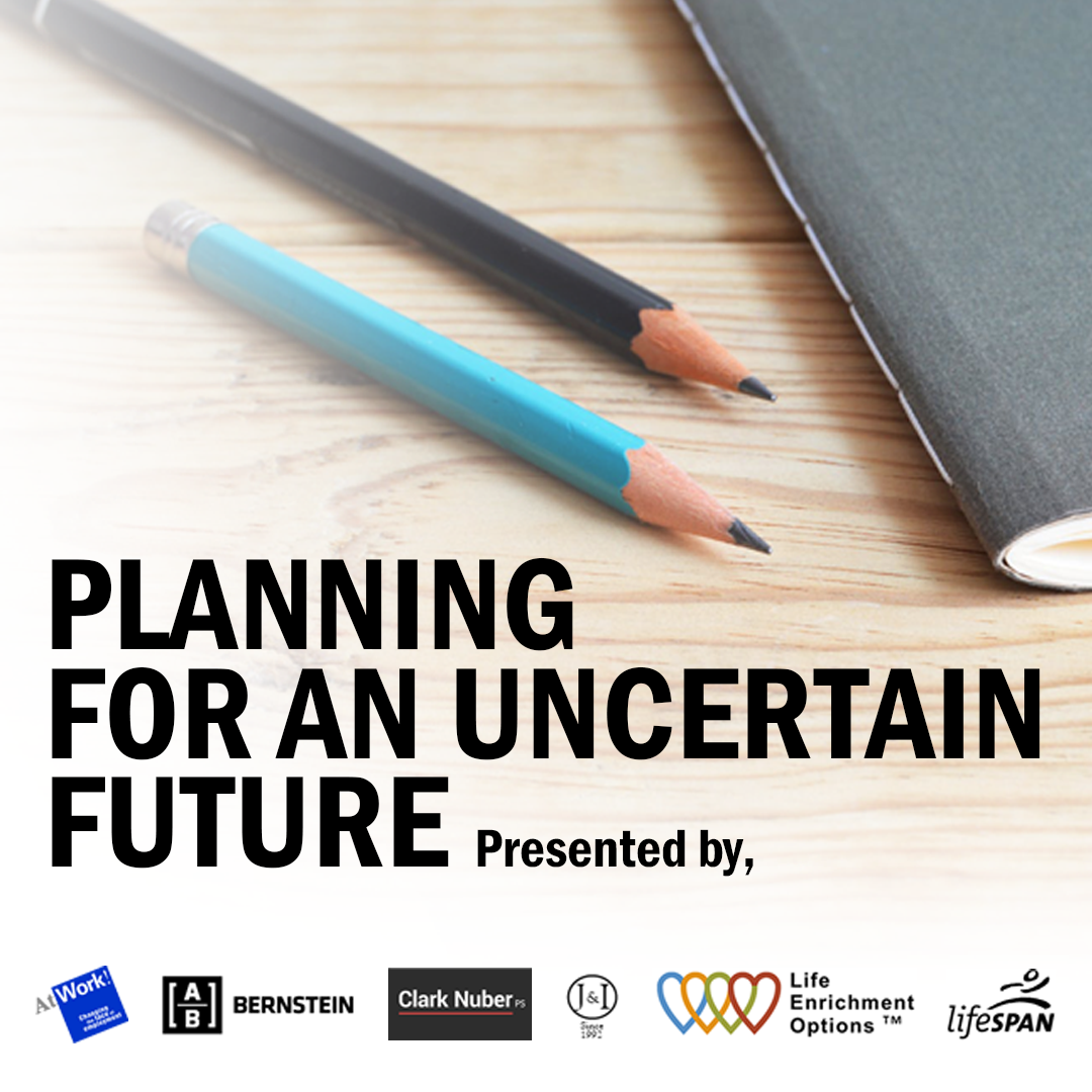 PLANNING FOR AN UNCERTAIN FUTURE: A Luncheon Seminar May 7, 2019 @ 11:30am | AtWork! 1935 152nd Pl NE Bellevue, WA 98007 Having a child with special needs can be immensely rewarding, but also presents challenges for emotional, legal, and financial reasons. Join us for a luncheon seminar to discuss how to carefully plan to ensure your child's quality of life for the long term.