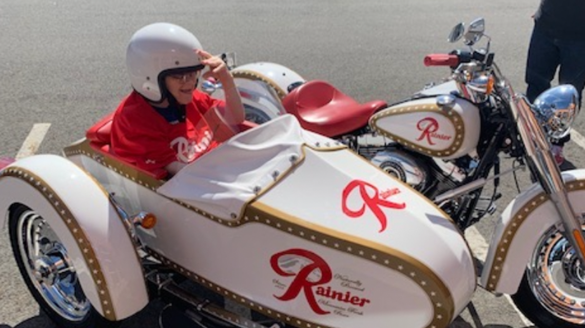 Gary and the Rainier Brewing Motorcycle